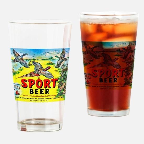 Michigan Beer Label 10 Drinking Glass