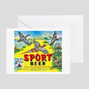 Michigan Beer Label 10 Greeting Card