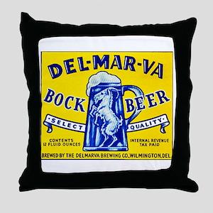 Delaware Beer Label 1 Throw Pillow