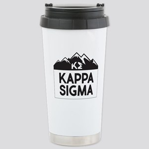 Kappa Sigma Mount 16 oz Stainless Steel Travel Mug