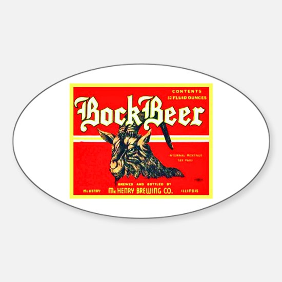 Illinois Beer Label 3 Sticker (Oval)