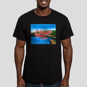 Wisconsin Beer Label 14 Men's Fitted T-Shirt (dark