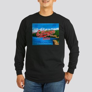 Wisconsin Beer Label 14 Long Sleeve Dark T-Shirt