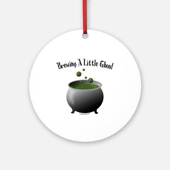 Funny Halloween maternity brew Ornament (Round)