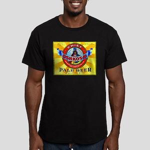 Wisconsin Beer Label 16 Men's Fitted T-Shirt (dark
