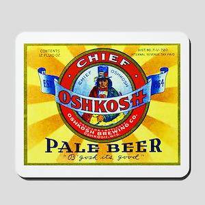 Wisconsin Beer Label 16 Mousepad