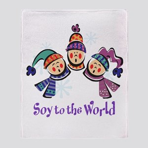 Soy to the World Throw Blanket