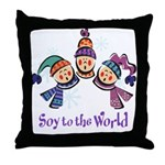 Soy to the World Throw Pillow