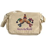 Soy to the World Messenger Bag