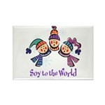 Soy to the World Rectangle Magnet (100 pack)