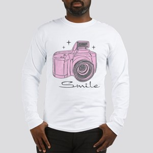 Camera Smile Long Sleeve T-Shirt