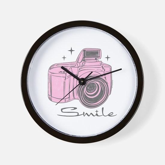 Camera Smile Wall Clock