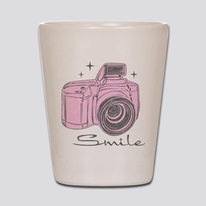 Camera Smile Shot Glass