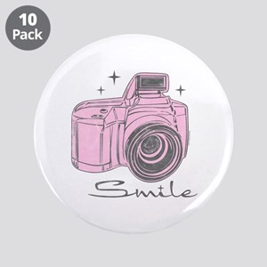 "Camera Smile 3.5"" Button (10 pack)"