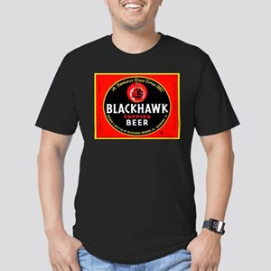 Iowa Beer Label 1 Men's Fitted T-Shirt (dark)