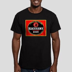 Iowa Beer Label 1 Men's Fitted T-Shirt (dark)