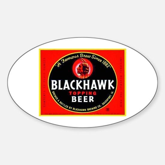 Iowa Beer Label 1 Sticker (Oval)
