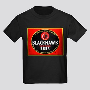 Iowa Beer Label 1 Kids Dark T-Shirt