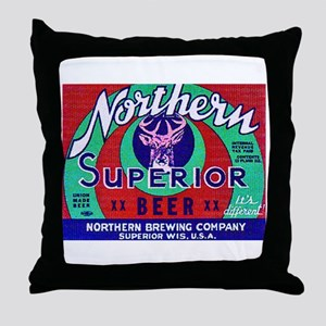Wisconsin Beer Label 13 Throw Pillow