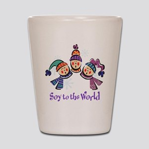 Soy to the World Shot Glass
