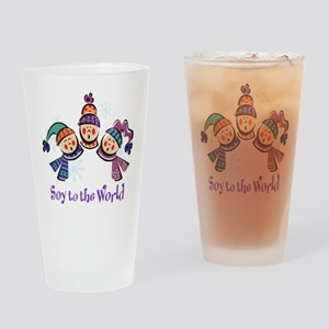Soy to the World Drinking Glass