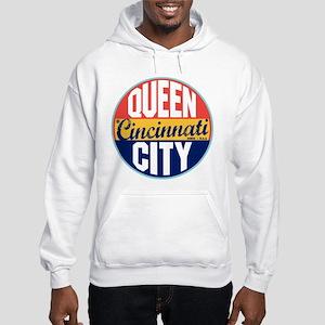 Cincinnati Vintage Label Hooded Sweatshirt