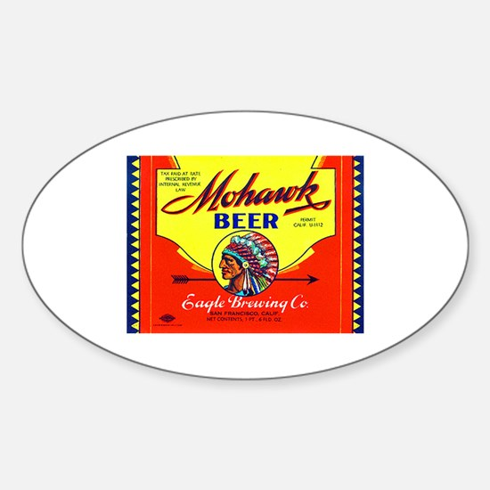 California Beer Label 6 Sticker (Oval)