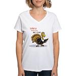 Tofu Not Turkey Women's V-Neck T-Shirt