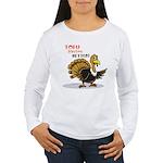 Tofu Not Turkey Women's Long Sleeve T-Shirt