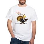 Tofu Not Turkey White T-Shirt