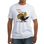Tofu Not Turkey Fitted T-Shirt