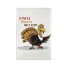 Tofu Not Turkey Rectangle Magnet (10 pack)