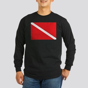 SCUBA DIVE FLAG Long Sleeve T-Shirt