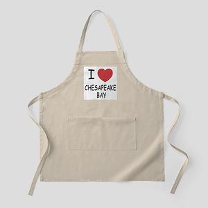 I heart chesapeake bay Apron