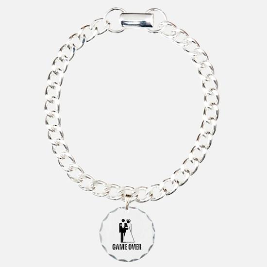 Game Over Bride Groom Wedding Bracelet