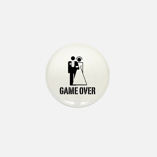 Game Over Bride Groom Wedding Mini Button