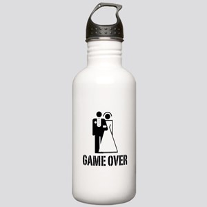 Game Over Bride Groom Wedding Stainless Water Bott