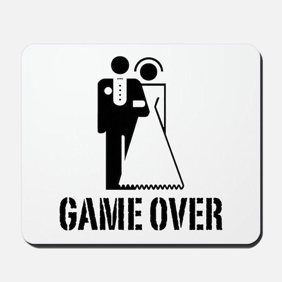 Game Over Bride Groom Wedding Mousepad
