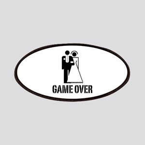 Game Over Bride Groom Wedding Patches