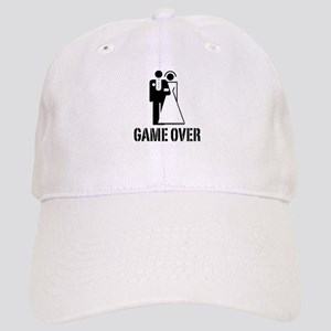 Game Over Bride Groom Wedding Cap