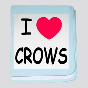 I heart crows baby blanket