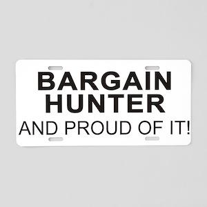 Proud Bargain Hunter Aluminum License Plate