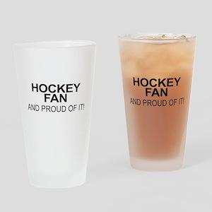 The Proud Hockey Fan Drinking Glass