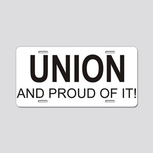 Proud Union Aluminum License Plate