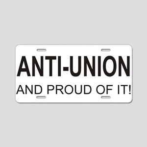 Anti-Union Aluminum License Plate