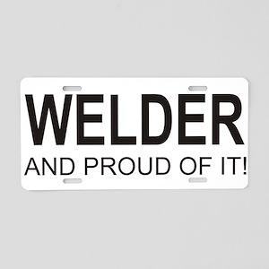 The Proud Welder Aluminum License Plate