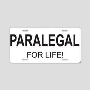 Paralegal For Life Aluminum License Plate