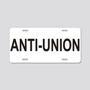 Anti-Union Aluminum License Plate
