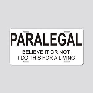 Paralegal Aluminum License Plate
