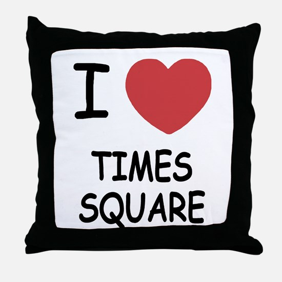 I heart times square Throw Pillow